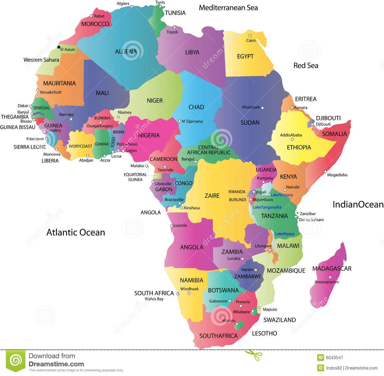 Carte De Lafrique Map.Carte De L Afrique 6043547 Cbl Acp